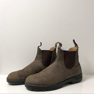 BLUNDSTONE RUSTIC BROWN 587 CLASSIC CHELSEA BOOTS